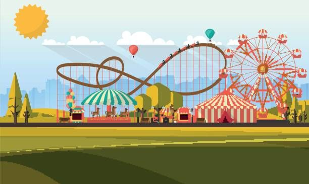 Image result for amusement. Rollercoaster clipart theme park