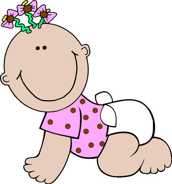 Polka dot clip art. Diapers clipart baby girl