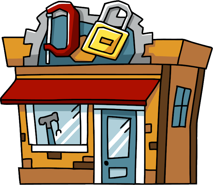 Mall clipart grocery store front. Hardware scribblenauts wiki fandom