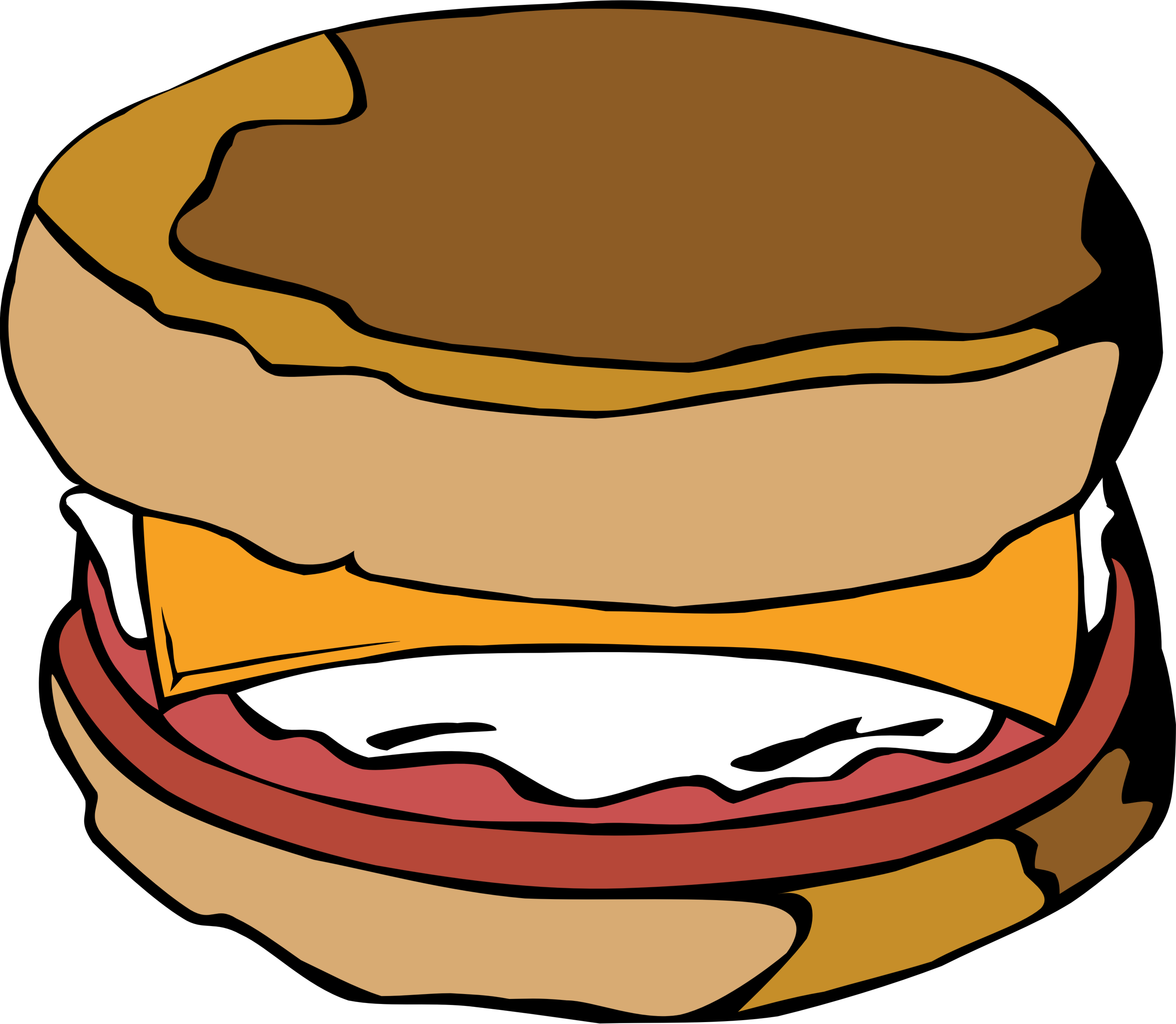 Muffins clipart 5 orange. Fast food breakfast egg