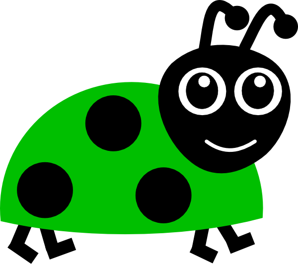 Worm clipart library. Green lady bug clip