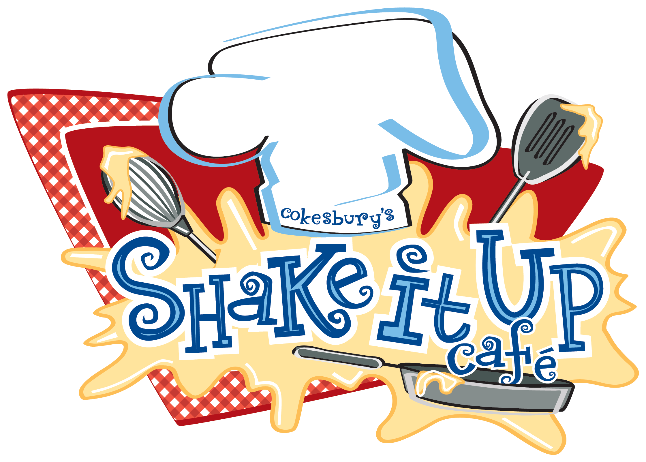 Preschool clipart logo. Shake it up cafe
