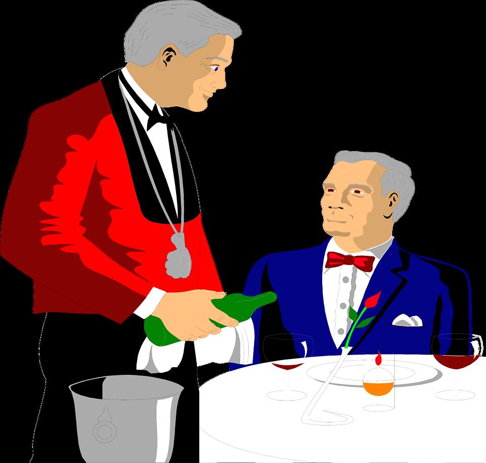 Hand clipart waiter. Free stock photo illustration