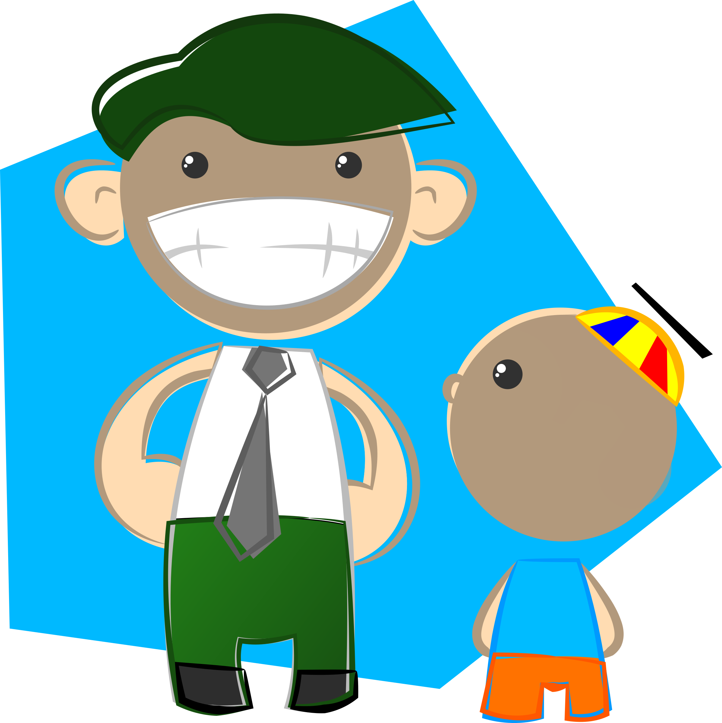 Dad and son big. Father clipart cute