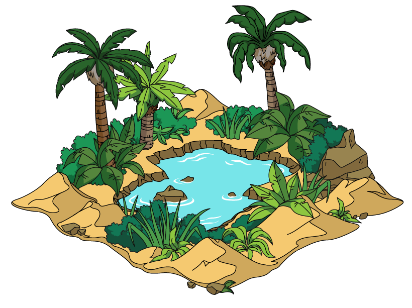 collection of oasis. Desert clipart desert ecosystem
