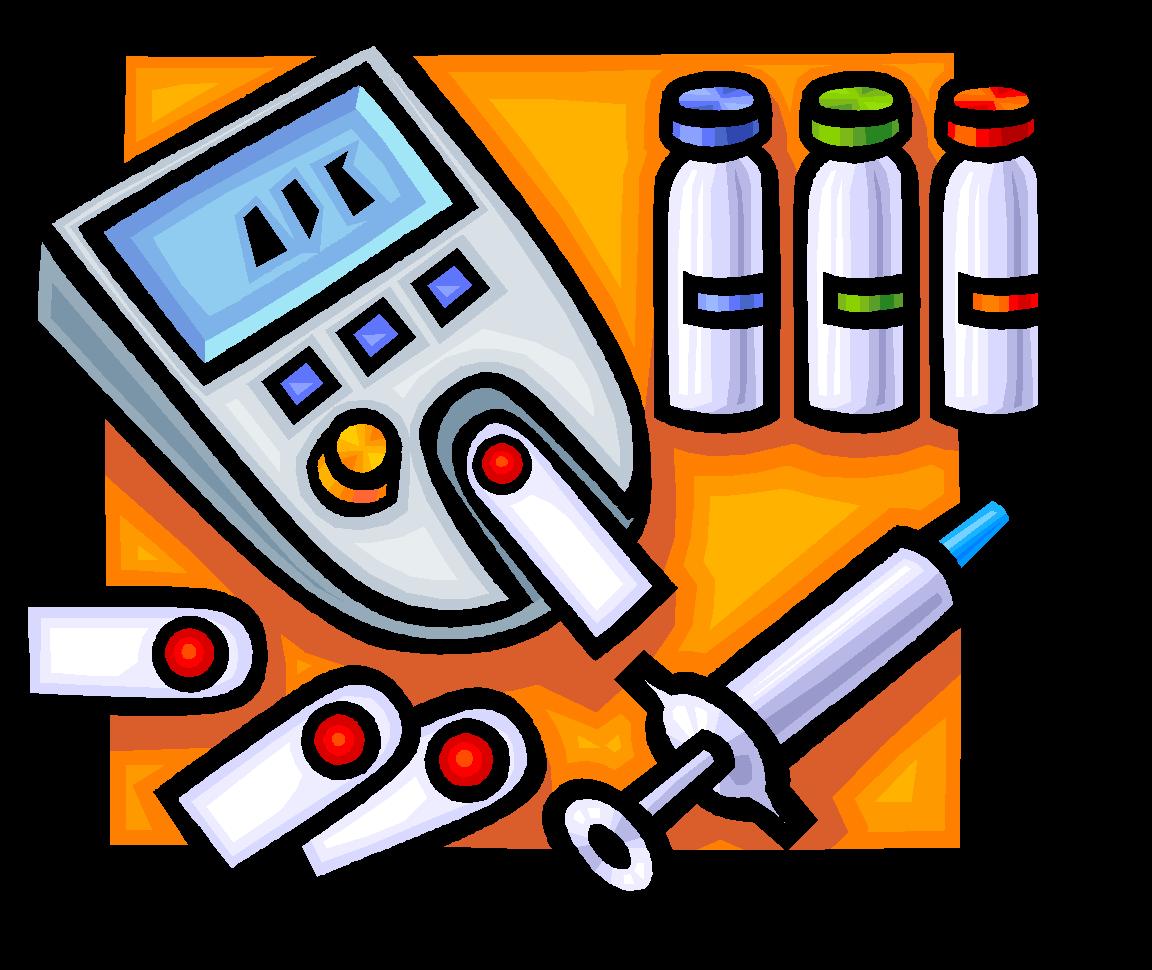 Blood glucose meters sugar. Syringe clipart diabetes medication