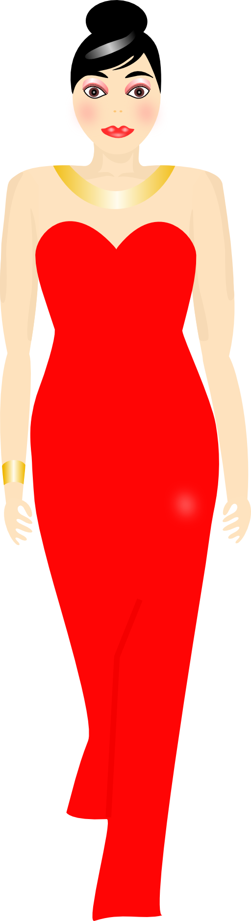 Red clipart human. Dress panda free images