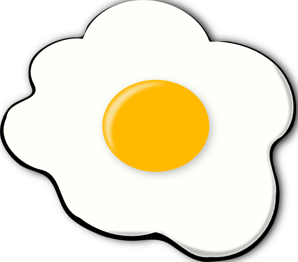 Sunny side up clip. E clipart egg clipart