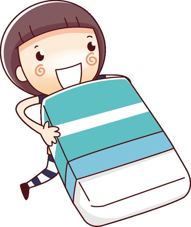 Kid clipart pencil. Cartoon illustration girl holding