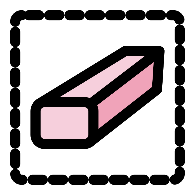 Eraser clipart pink eraser. Primary tool selection medium