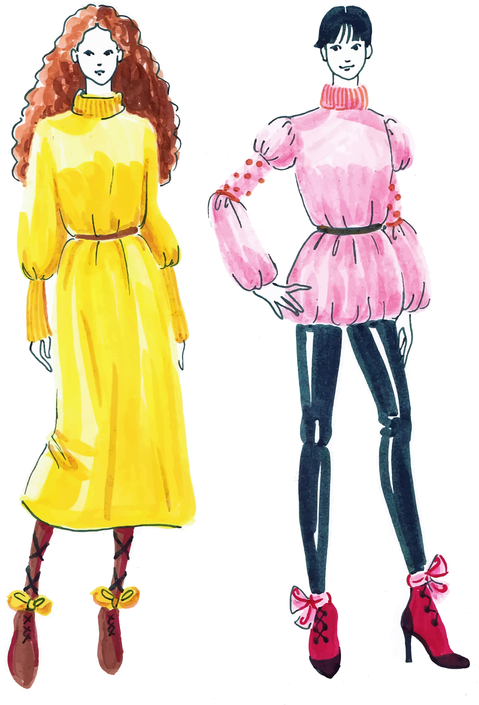 Fashion clipart fashion person. Women sketch big image