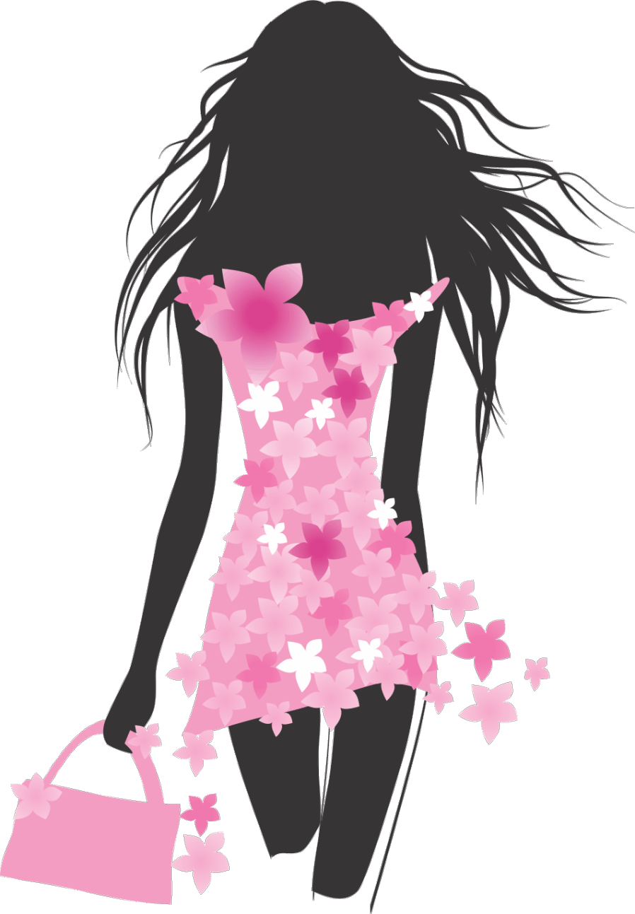collection of fashion. Lady clipart model