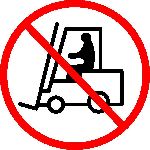 Forklift sign clip art. No clipart clker