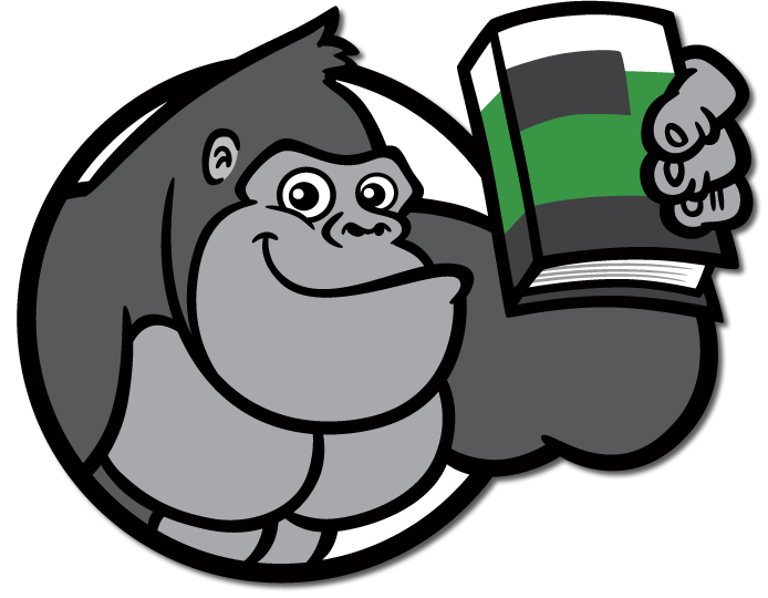 Guide about the book. Eye clipart gorilla