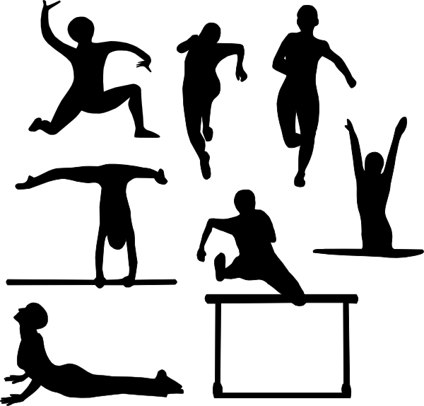 People clip art at. Gym clipart vector
