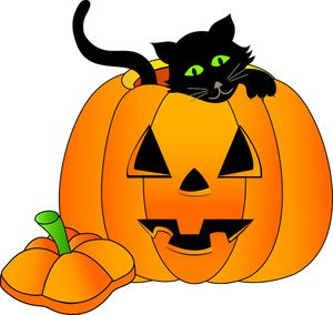 October clipart friendly pumpkin. Happy halloween panda free