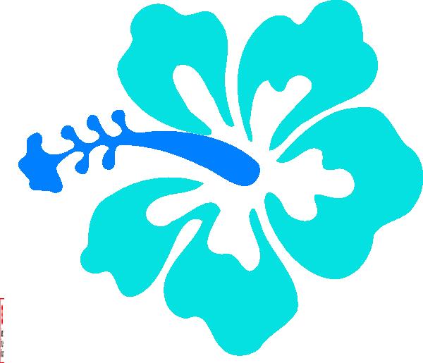 Hawaii clipart tree hawaiian. Blue hibiscus clip art
