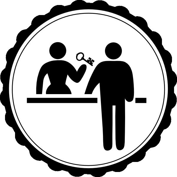 Check in clip art. Hotel clipart hotel logo