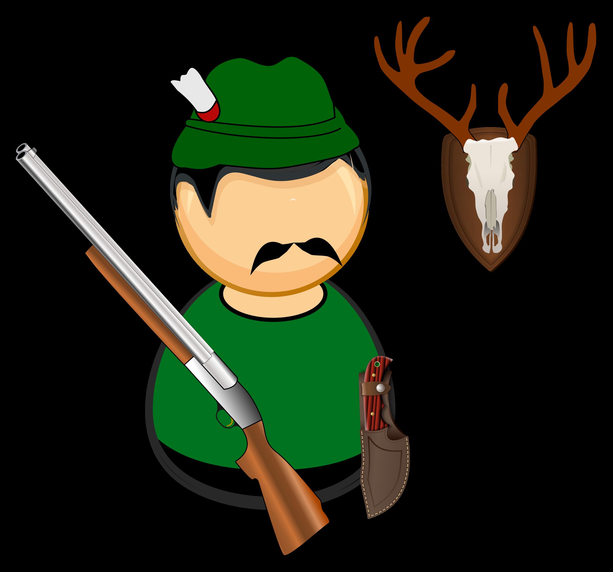 Hunter gamekeeper big image. Statistics clipart hunt