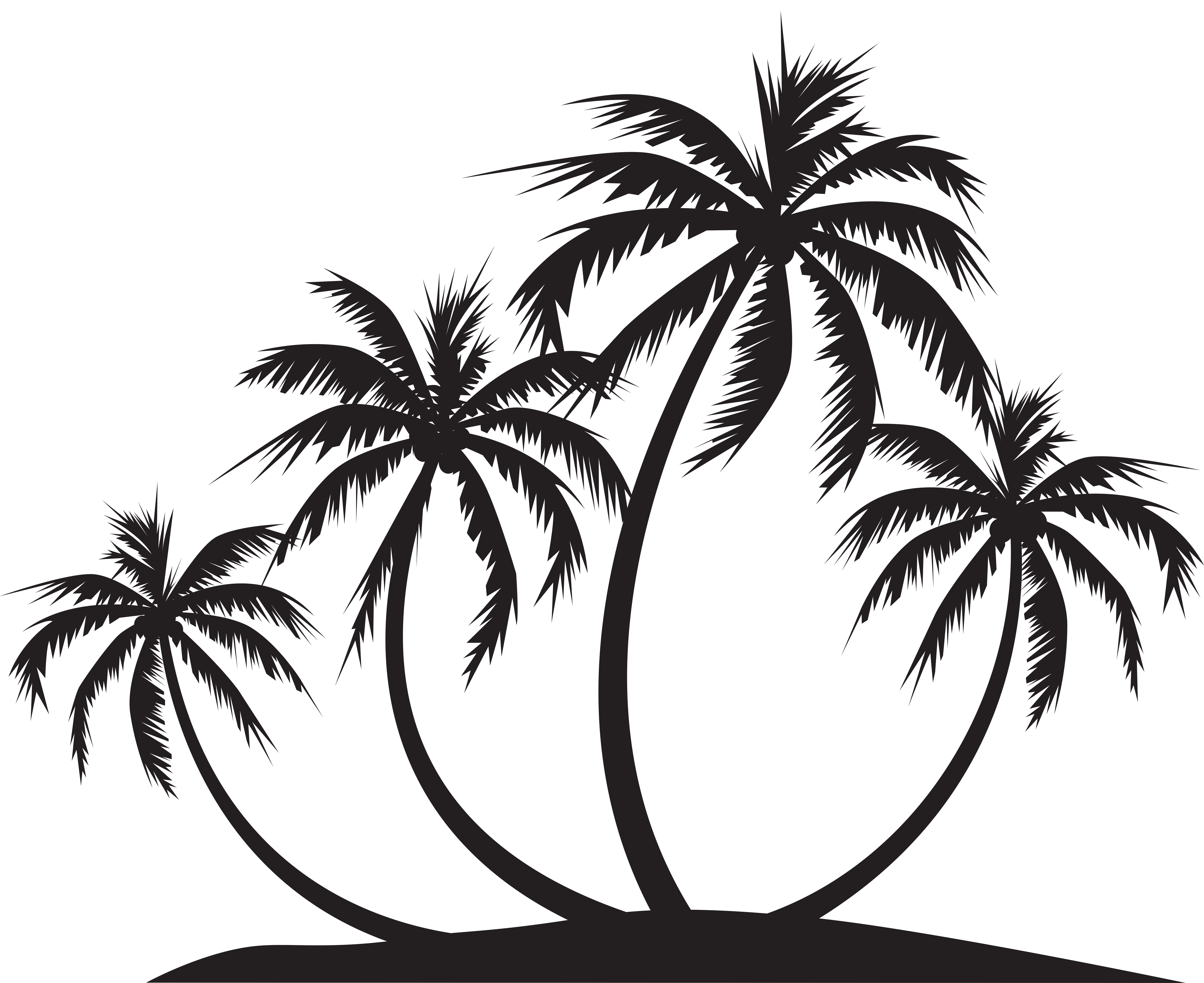 Palm island silhouette png. Clipart tree september