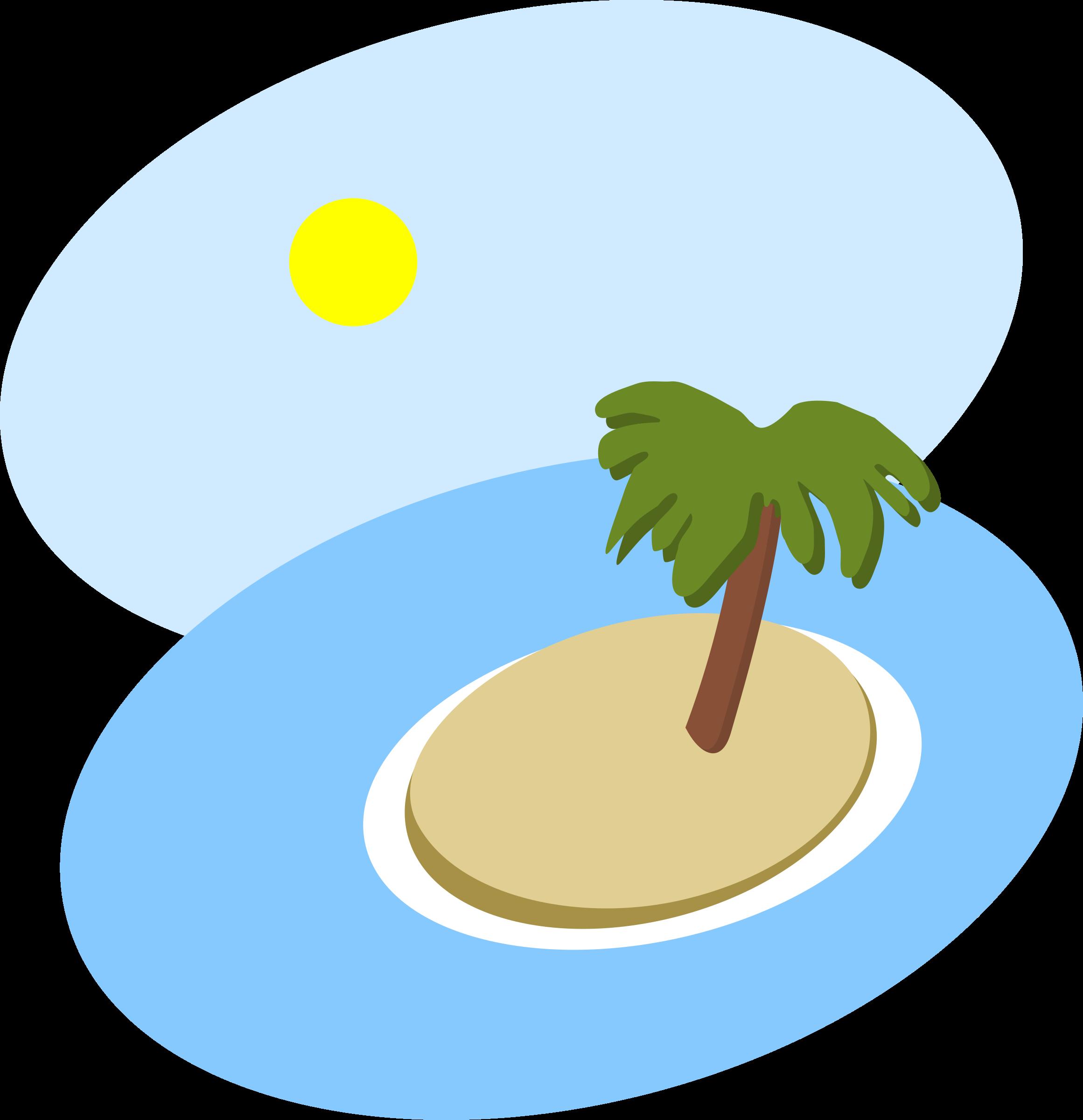 Oval island big image. Florida clipart scene
