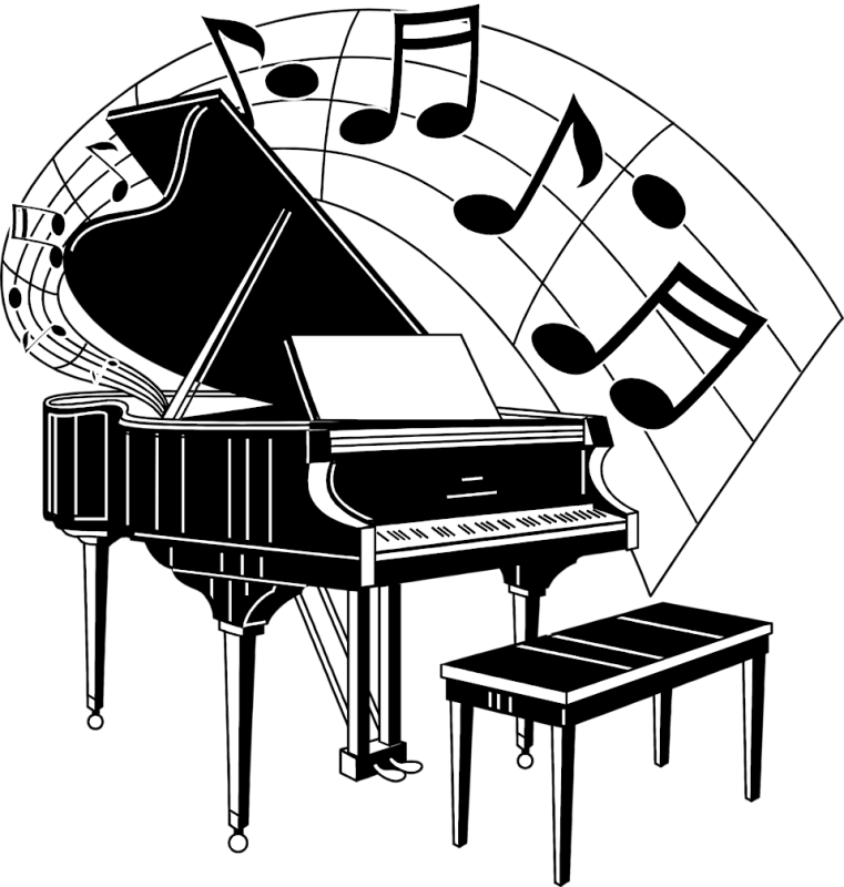 Piano clipart vintage piano. Keyboard drawing images at