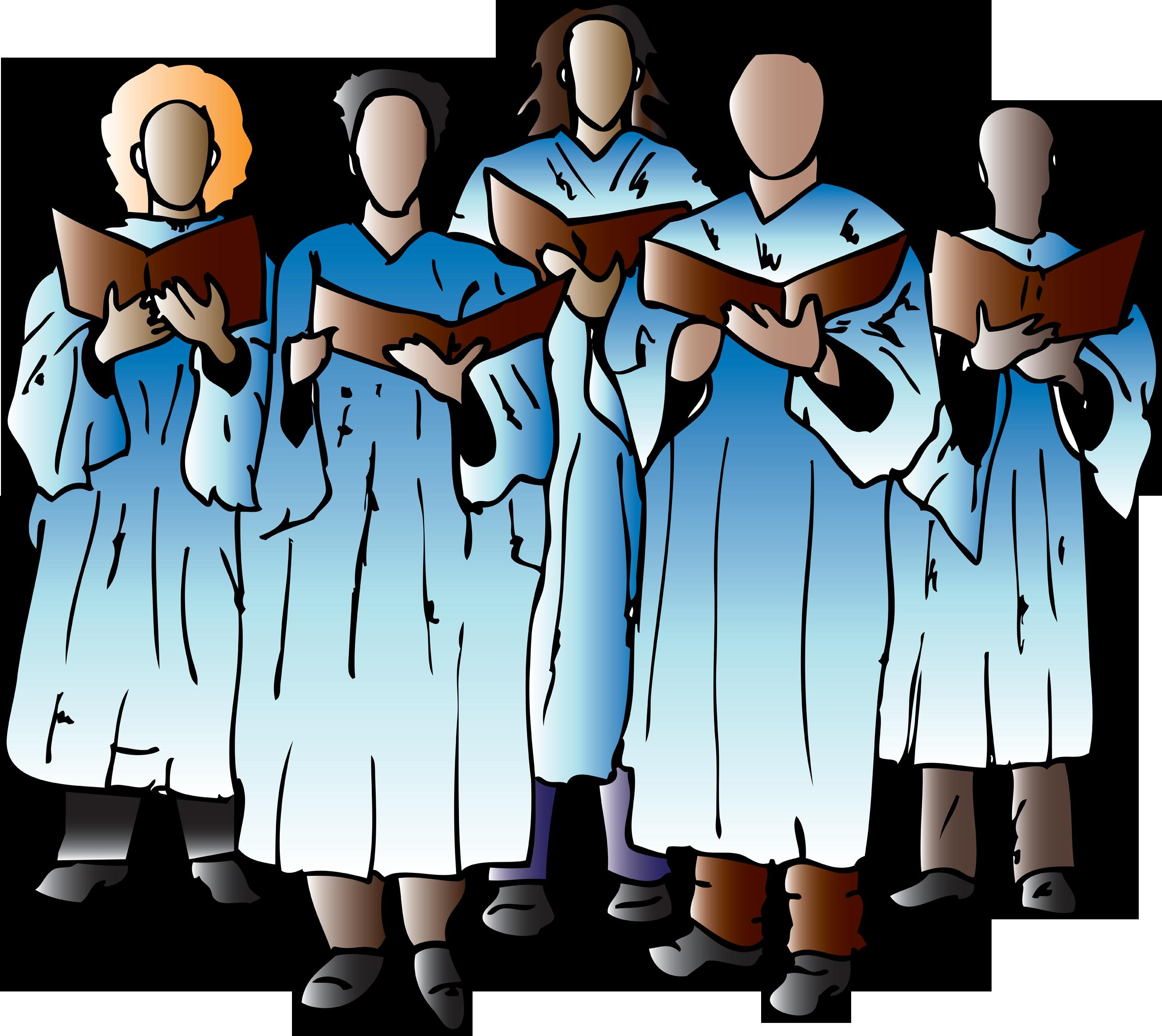 Choir clipart church choir. African american kid clip