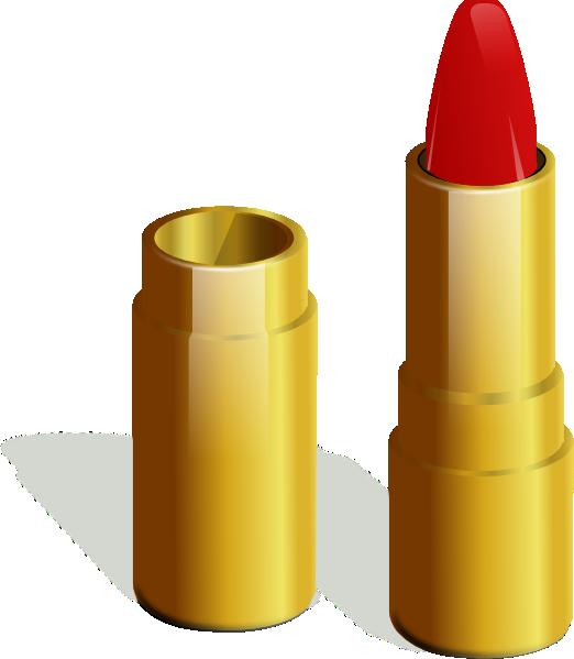 Gold clip art at. Lipstick clipart vector