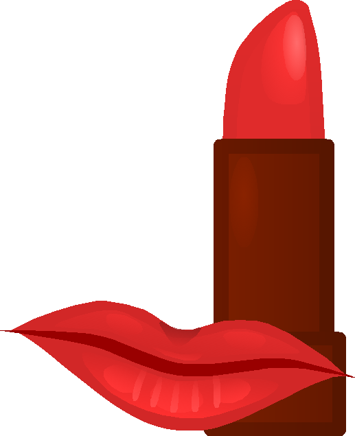 Lips and makeup icon. Lipstick clipart vector
