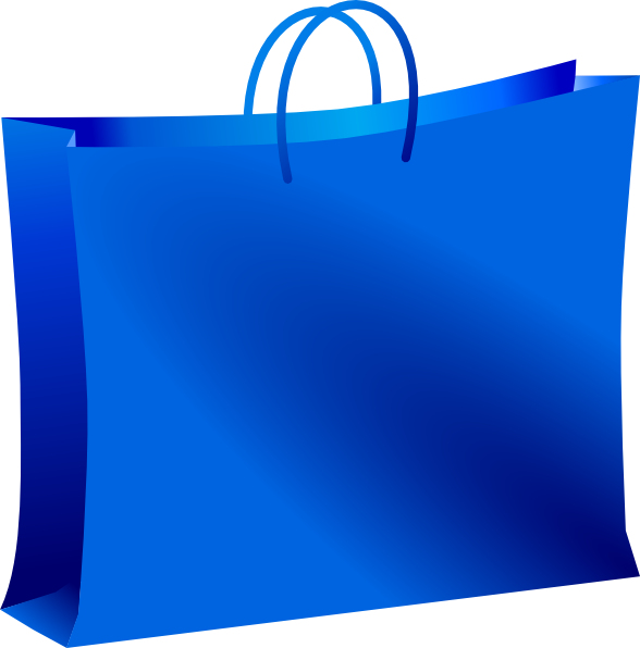 Blue shopping bag clip. Clipart images mall