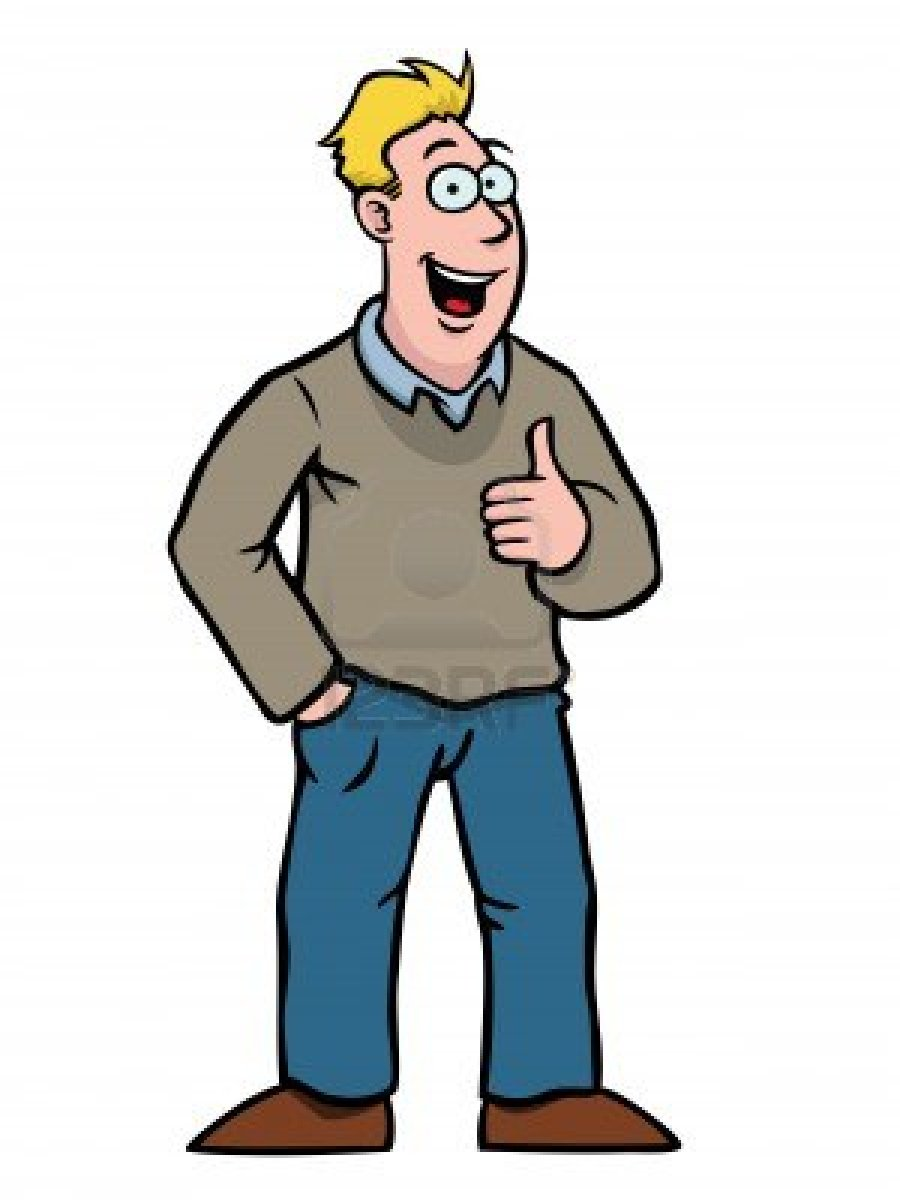 Man thumbs up cliparting. Male clipart animated