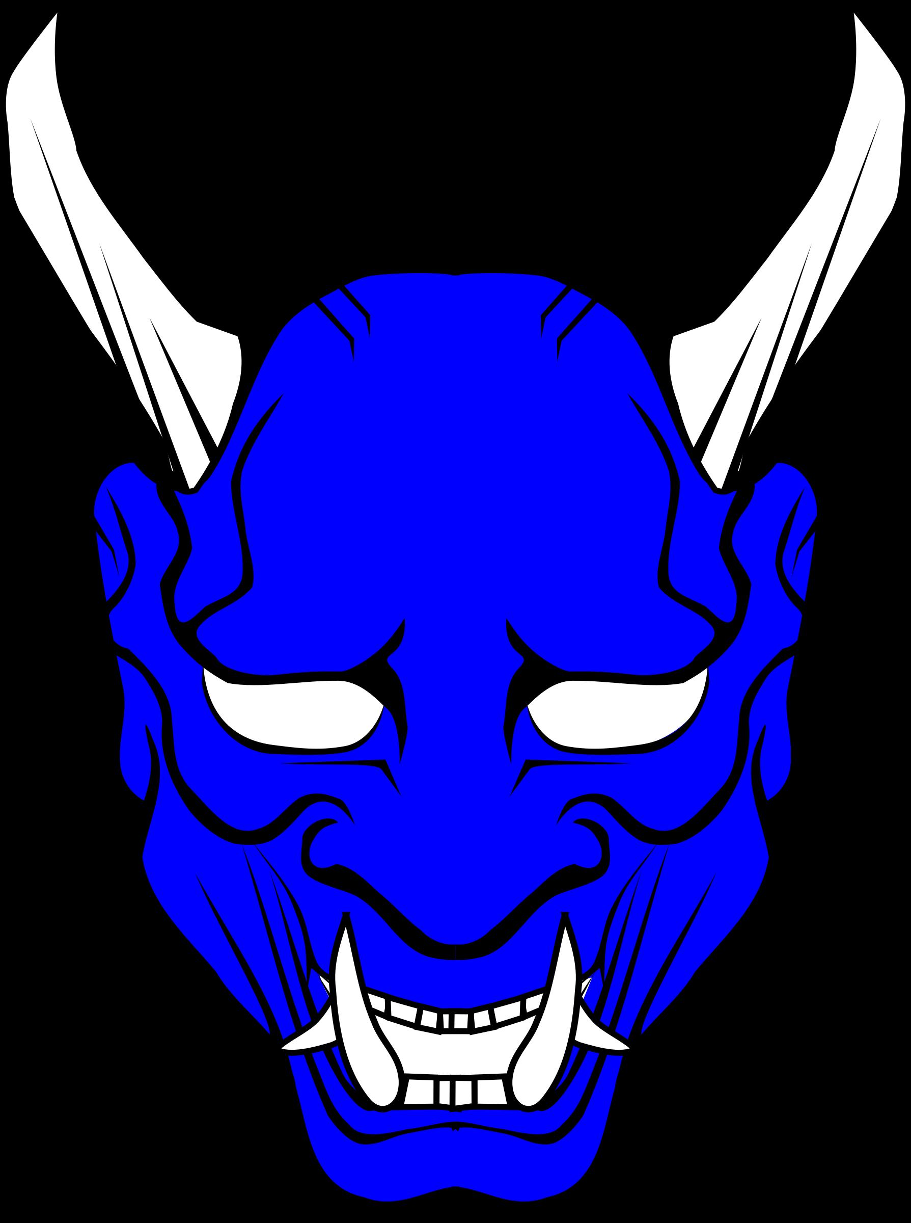 Mask clipart symbol. Oni big image png