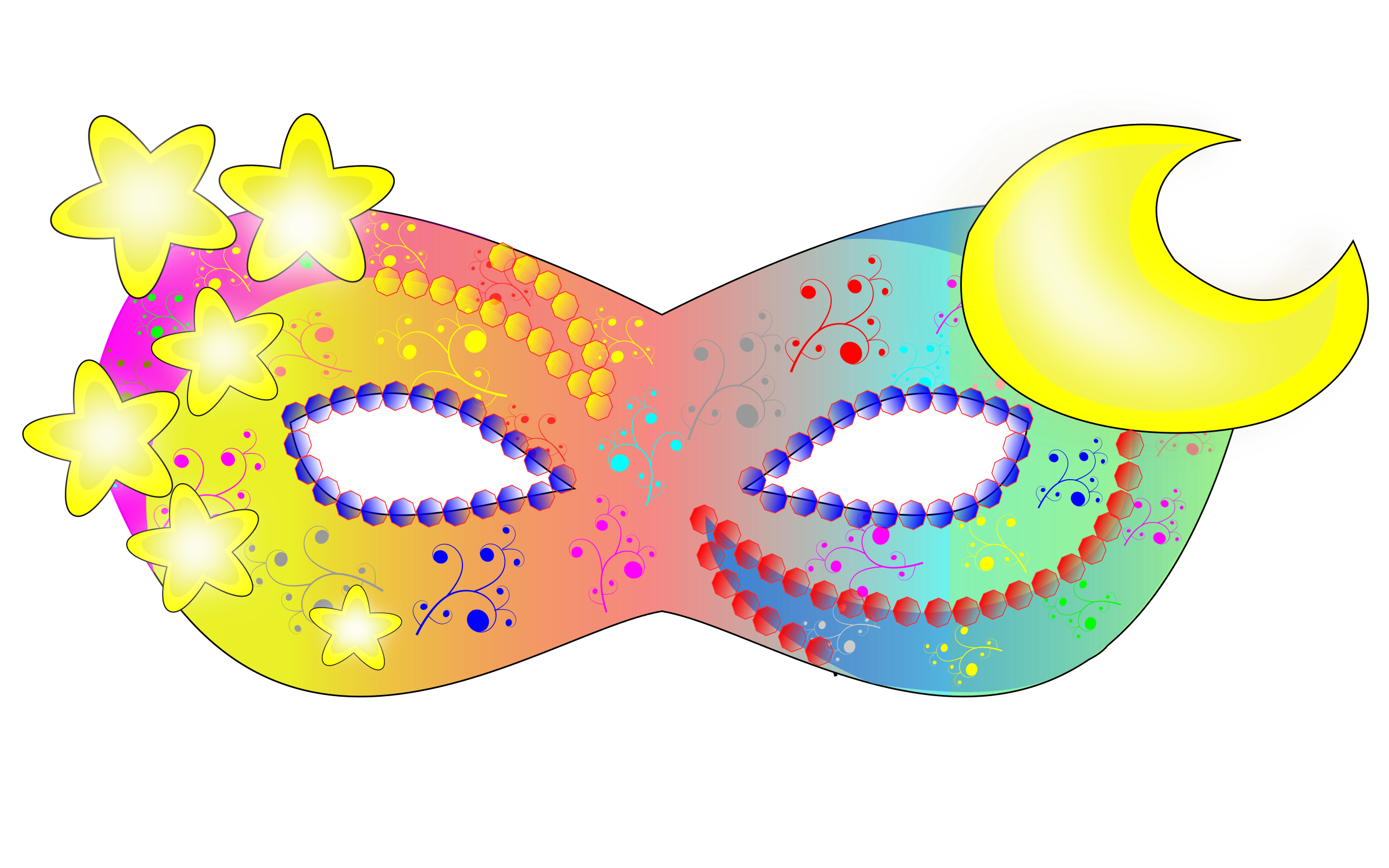 . Mask clipart party
