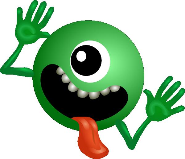 One eyed alien clip. Mat clipart small