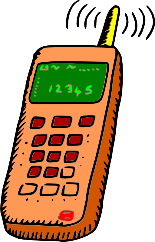 Telephone clipart modern telephone. Analogue mobile phone i