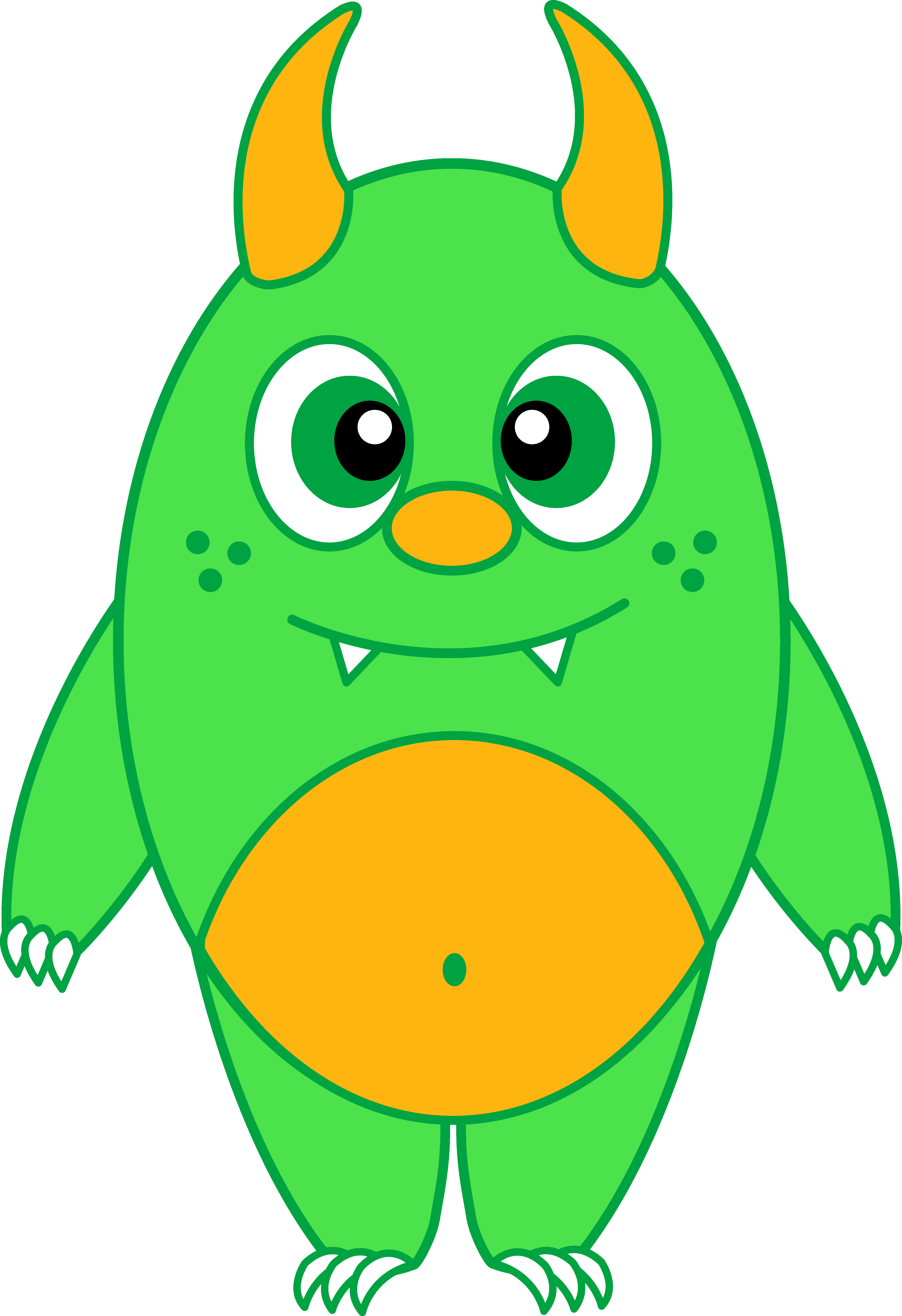 Monster clipart female monster. Silly green