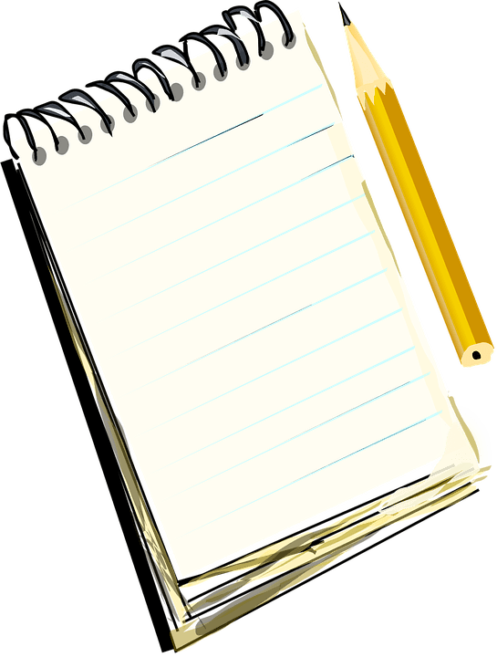 Notebook and transparent png. Clipart pencil clear background