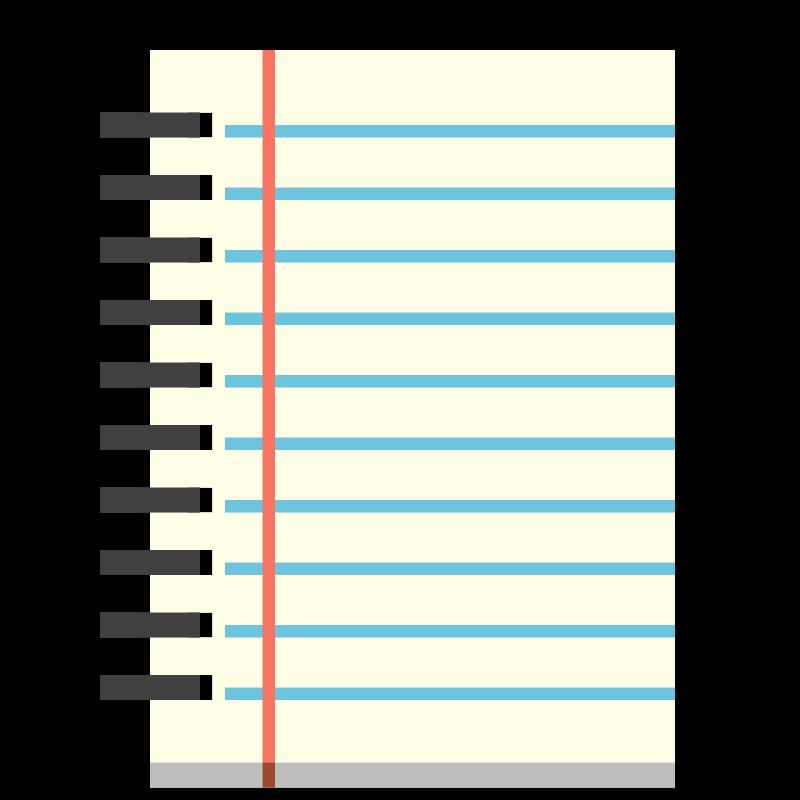 Journal clipart spiral journal. Notebook panda free images