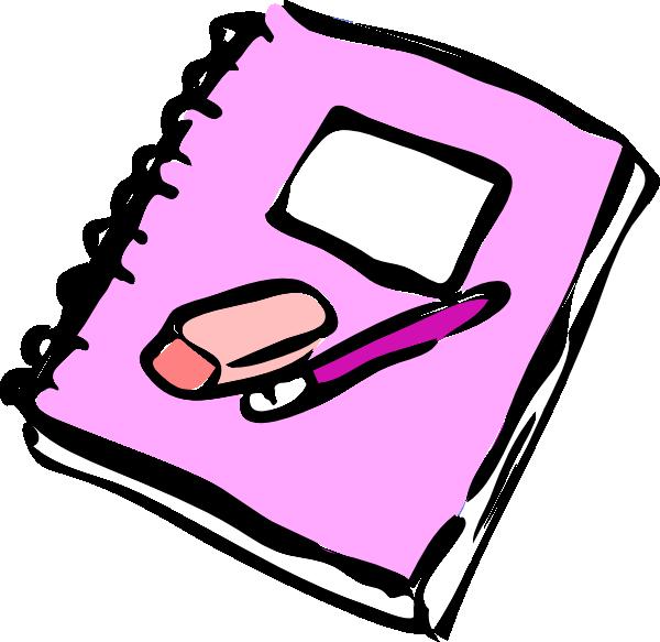 Clip art at clker. Notebook clipart notebook pen