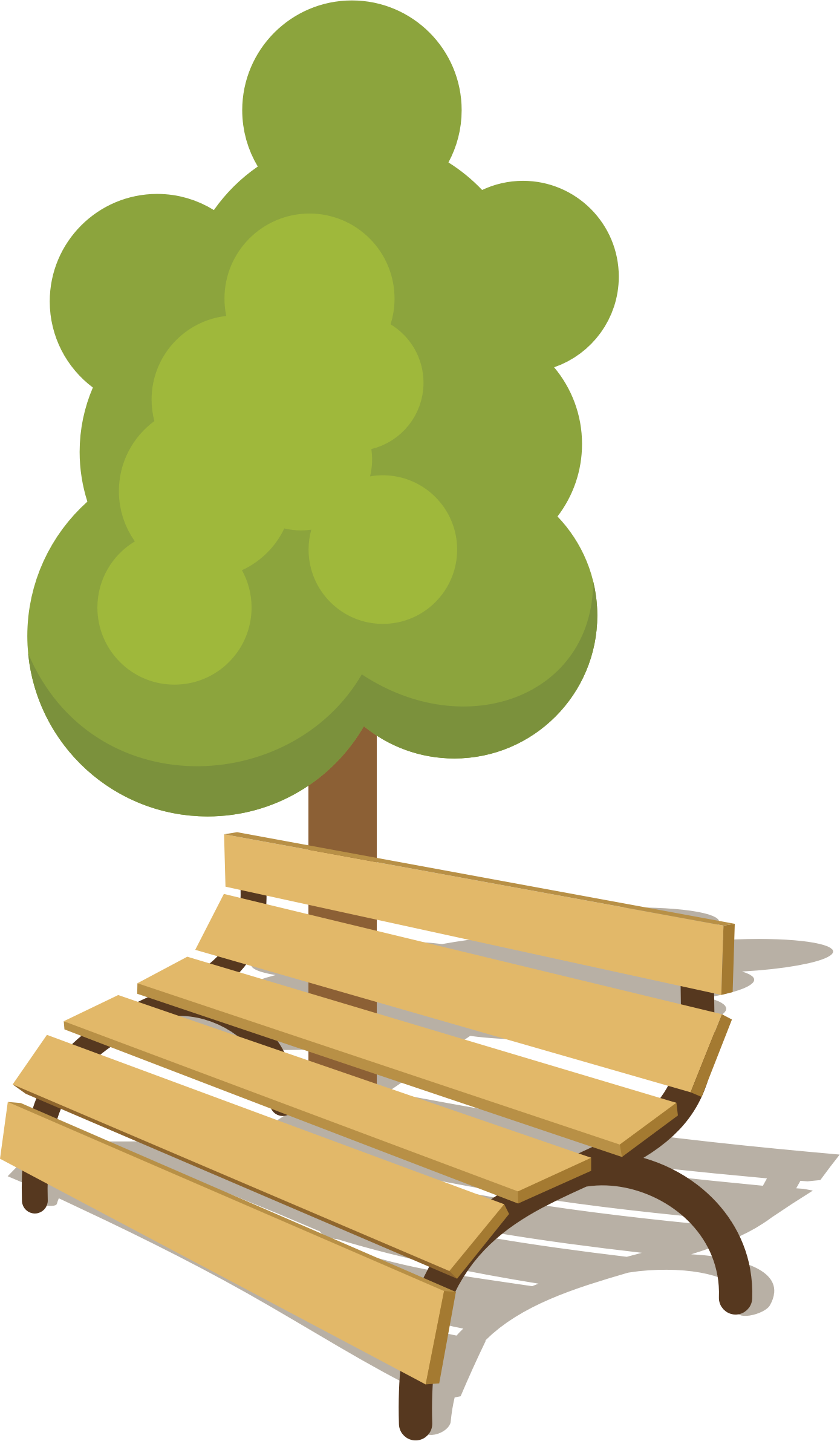Clipart park small park. Bench big image png