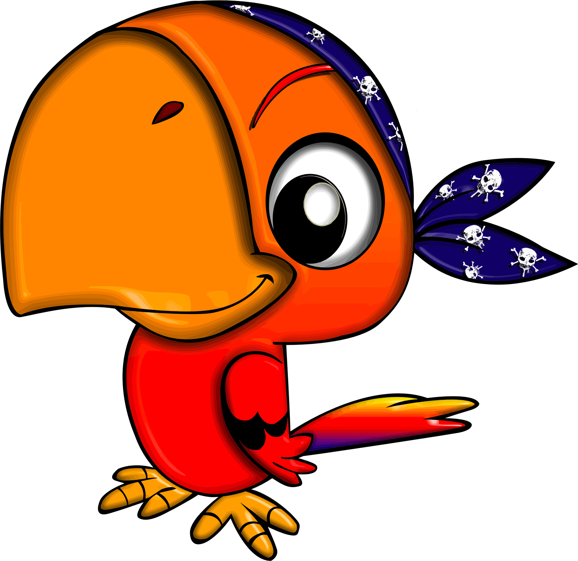Pirates clipart animated. Pirate parrot big image