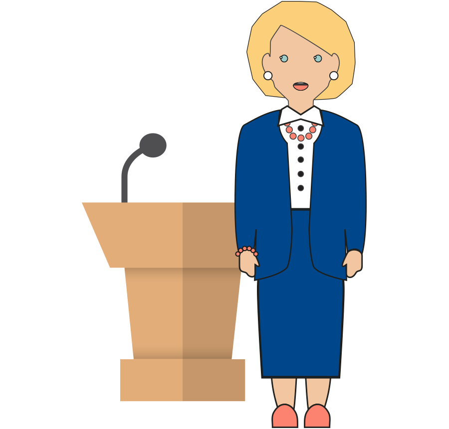 collection of woman. Female clipart mayor