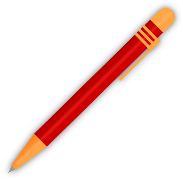 Red ballpoint pen clip. Markers clipart sharpie marker