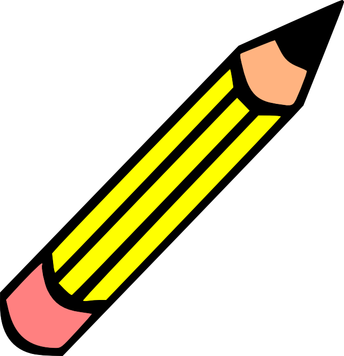 Clipart pencil simple. Horizontal clip art panda