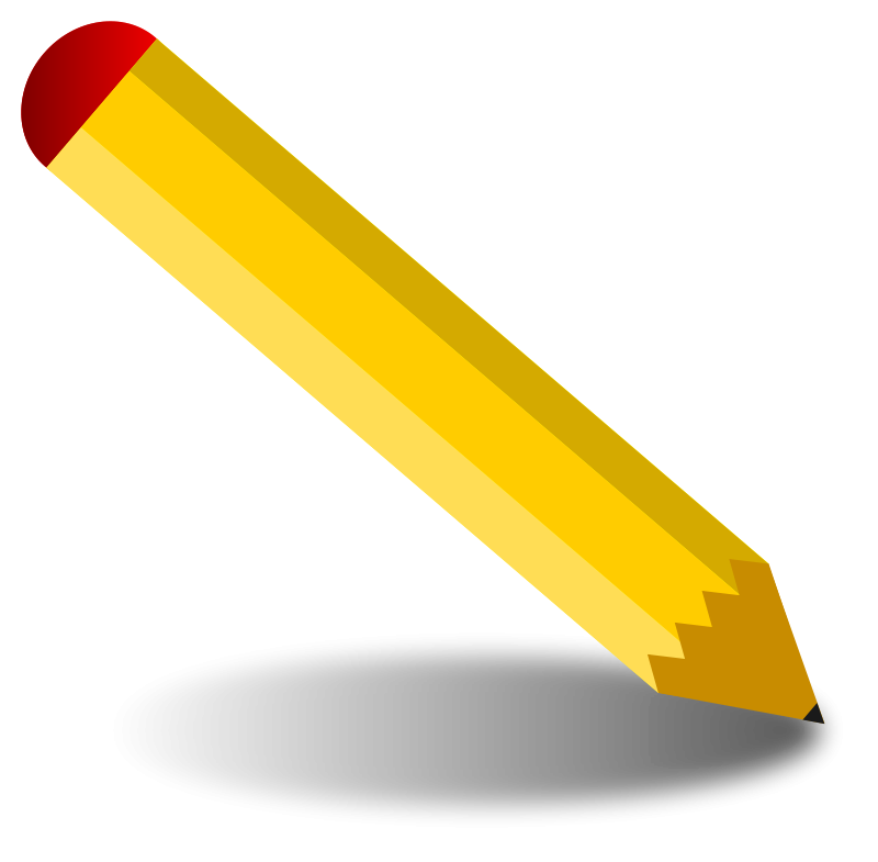Free stock photo illustration. Clipart pencil art supply