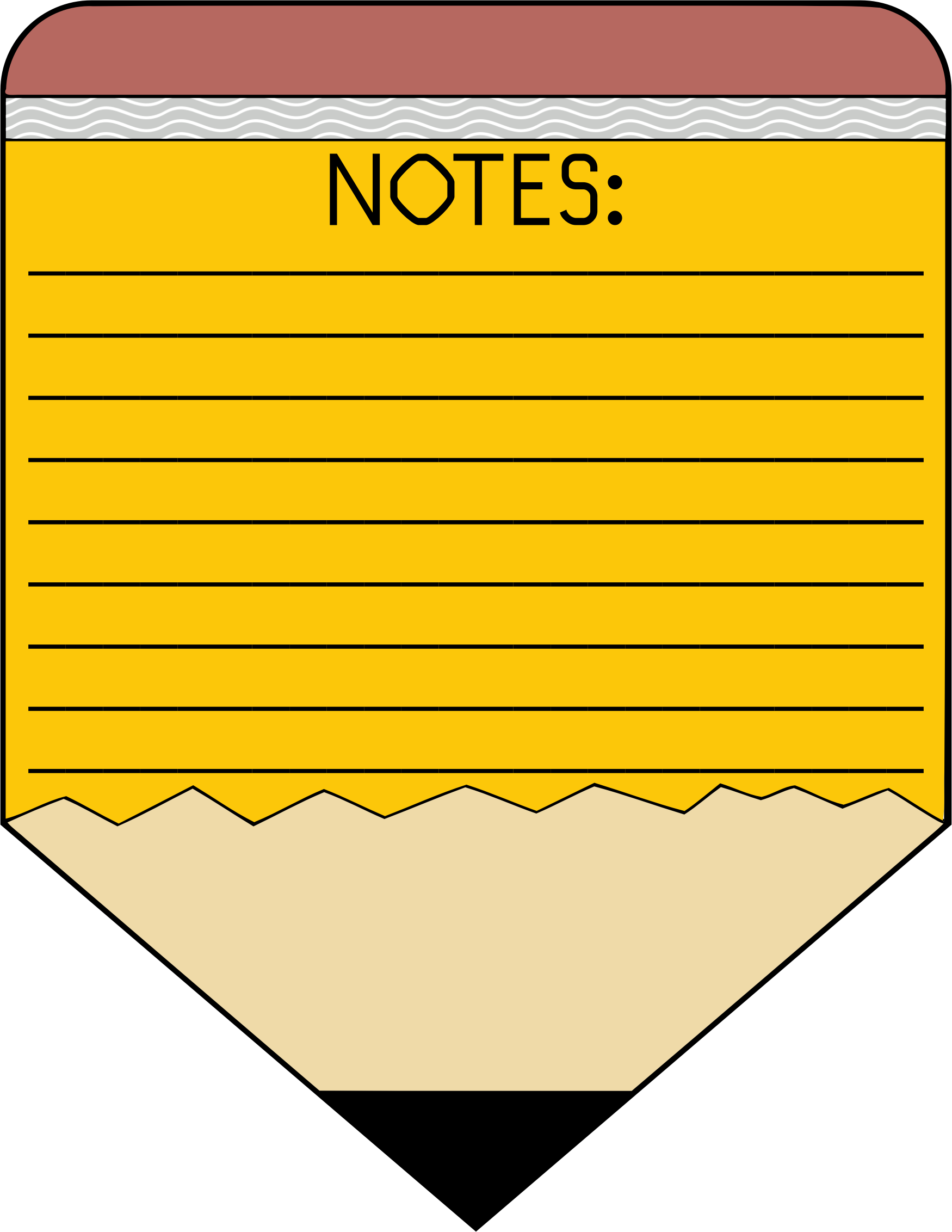 Notes. Note clipart pencil