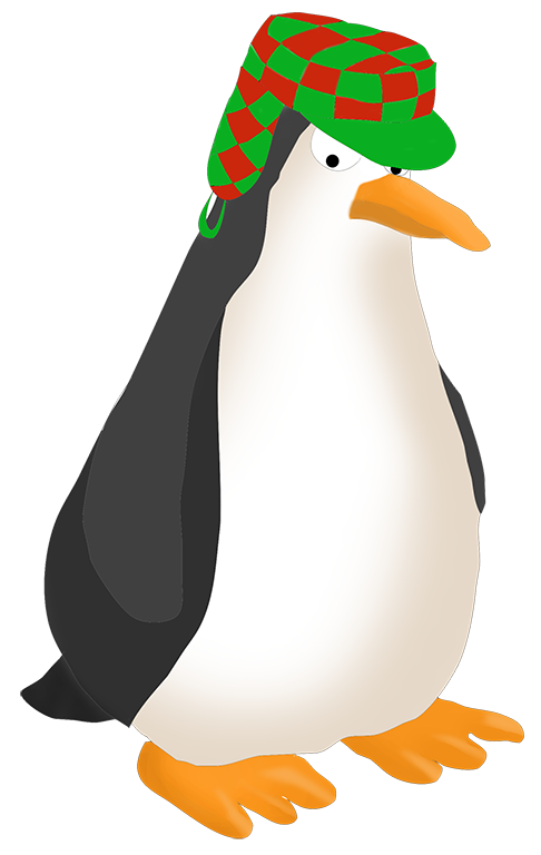 Frames clipart penguin. Funny clip art with