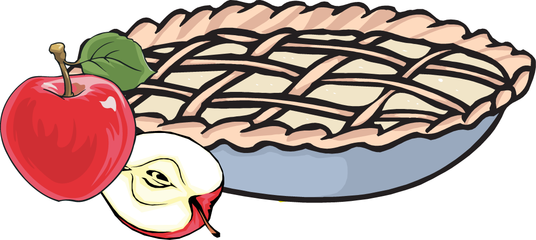 Smelling apple pie . Maid clipart cute