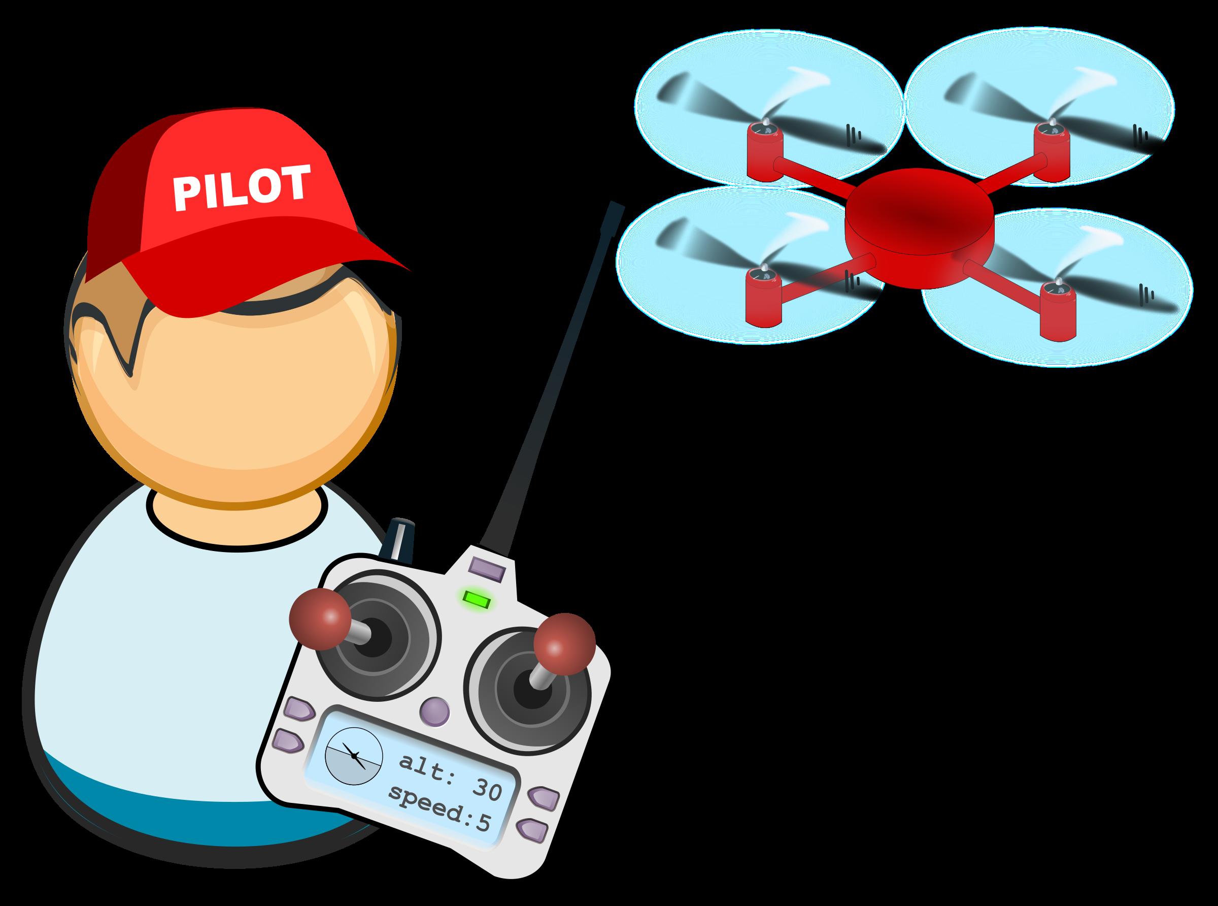 Drone uav big image. Pilot clipart pilot plane