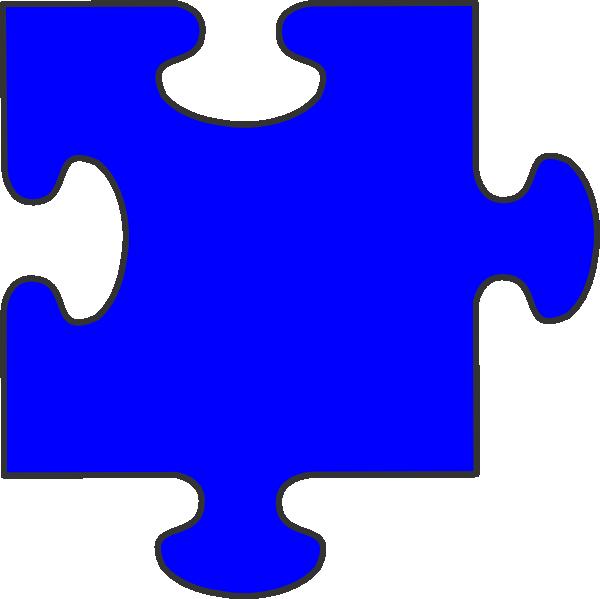 Clipart kids puzzle. Blue border piece clip
